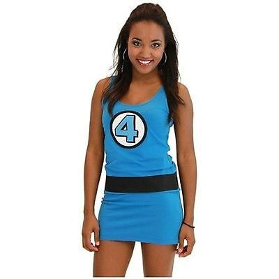 Authentic Fantastic 4 Sue Storm Marvel Comics Costume Juniors Tank Dress (Storm Marvel Comics Kostüm)