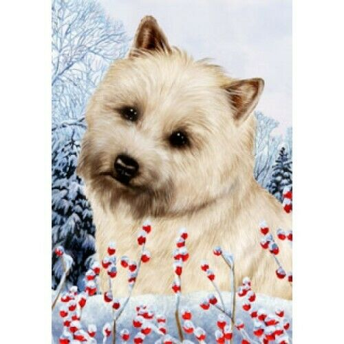 Winter House Flag - Wheaten Cairn Terrier 15094