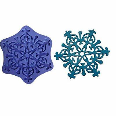 3D Silicone Mold Frozen Snow Snowflake Cake Decorating Fondant Gompaste 928 (Frozen Cake Mold)
