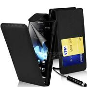 Sony Xperia s Leather Flip Case