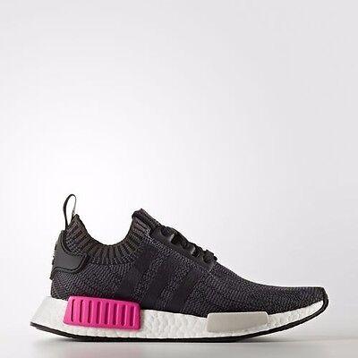 best service f01c0 757e5 Adidas Womens NMDR1 PK Primeknit Schock Pink Size 8.5 (BB2364)