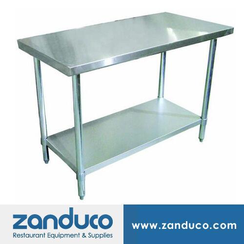 "Zanduco Stainless Steel 24"" X 48"" Commercial Prep Standard Worktable NSF"