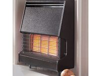 NEW Flavel Firenza Gas Fire Black Outset Fire Place