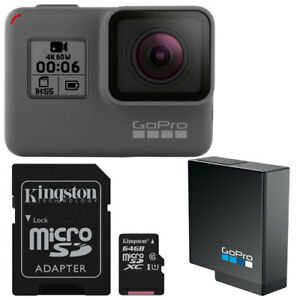 BRAND NEW GoPro HERO6 Camera +  Battery + 64g Micro SD card SALE