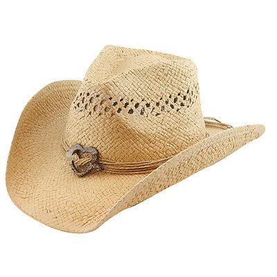 LADIES  TOYO COWBOY HAT --   BEIGE with HEART TRIM  - 30 DIFFERENT STYLES -- NEW - Different Cowboy Hat Styles