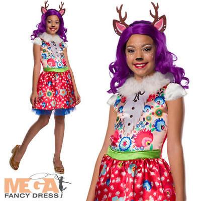 Danessa Deer Girls Fancy Dress Woodland Enchantimals Animal Kids Costume Outfit  - Deer Costume Outfit