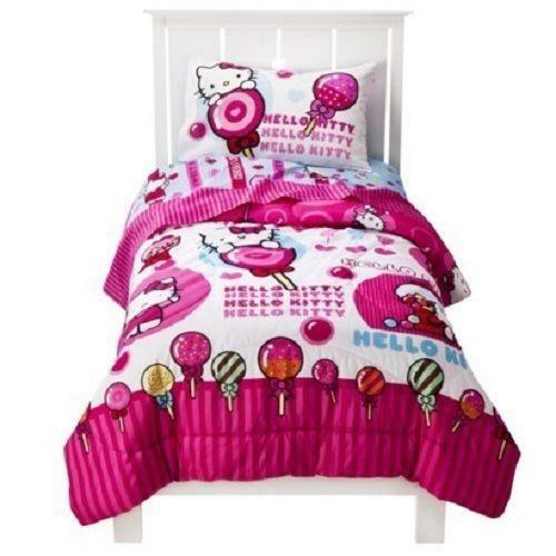 hello kitty bedroom sets hello kitty comforter set ebay 15542 | $ 3