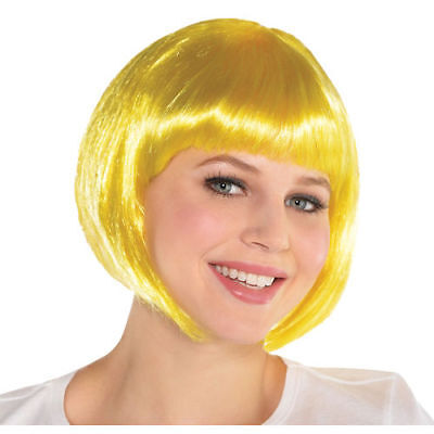 Birthday Costumes For Adults (YELLOW BOB WIG for ADULTS or KIDS  Birthday Party Supplies Halloween Costume)