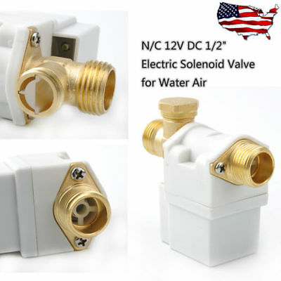 12 Electric Solenoid Valve For Dc12v Water Air Nc Normally Closed 0.02-0.8mpa
