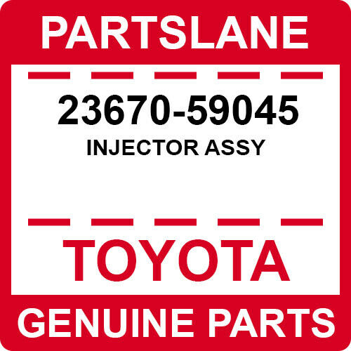 23670-59045 Toyota Oem Genuine Injector Assy