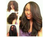 Afro hair treatments, relaxing, retouch,Wash&set, brazillian Keratin Blow-dry treatment from £20