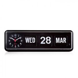 Twemco Retro Modern Flip Clock BQ38 Black Made in Hong Kong