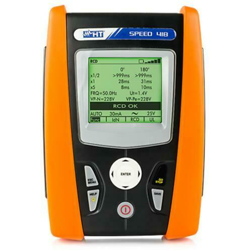 HT Instruments SPEED 418 Safety Tester Ground/Earth Resistance & RCD Tests.