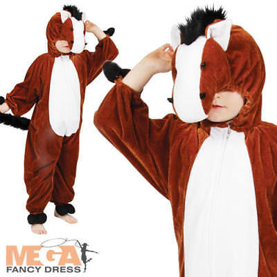 Horse Kids Fancy Dress Farm Animal Pony Boys Girls World Book Day Costume Outfit