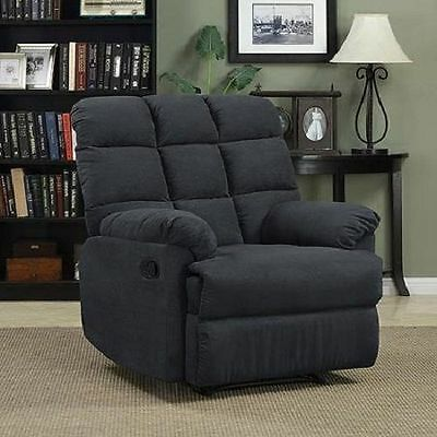Oversized Recliner Chair Wall Hugger Big Living Room Furniture Large Soft Plush
