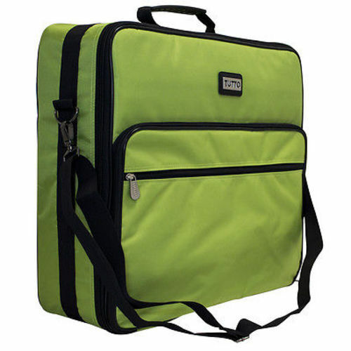"""Tutto 19"""" -- Lime Embroidery Project Bag"""