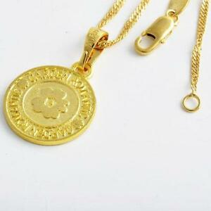 Gold coin necklace ebay gold coin pendant necklace aloadofball Image collections
