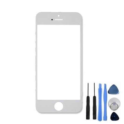 Top Front Outer Glass Screen Lens Replacement White For iPhone 5