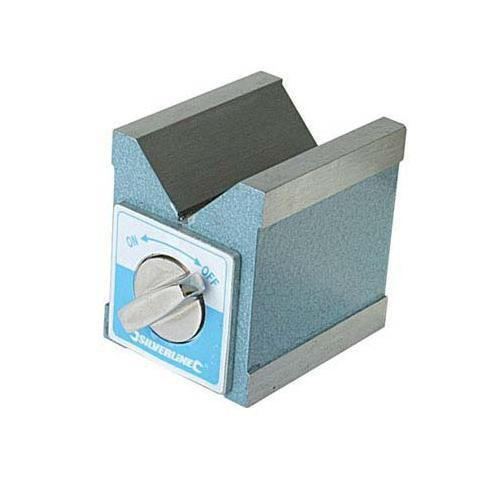 Silverline Magnetic V Block 70 x 60 x 70mm Mechanical Engineering DIY Tool