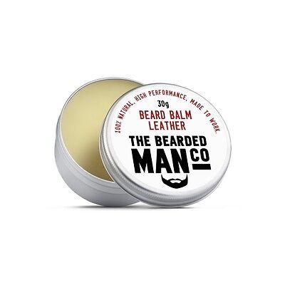 Bartbalsam 30g Leder Haarspülung Männerpflege Beauty Styling Feuchtigkeits