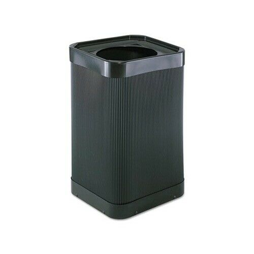 Safco At-Your Disposal Top-Open Waste Receptacle, 38 gal, Black, 9790BL