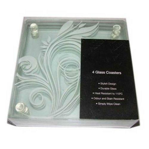 Square Glass Coasters Ebay