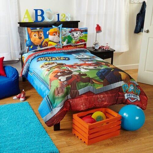 Nickelodeon's Paw Patrol Kids Bedding Set Comforter Twin Sof