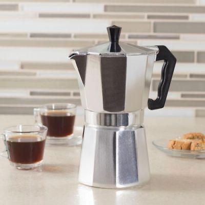 Aluminum Stovetop Espresso Coffee Maker Latte Moka Pot Percolator 1/3/6/9/12 cup