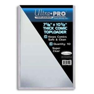 """Ultra Pro THICK top loaders .... for COMICS ... 7 1/8"""" x 10 1/2"""""""