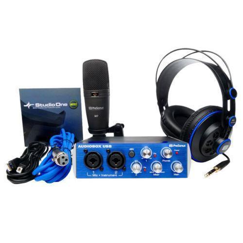 recording studio kit pro audio equipment ebay. Black Bedroom Furniture Sets. Home Design Ideas