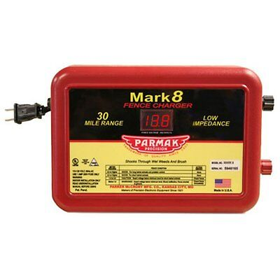Parmak Mark8 Low Impedance 110120-volt 30-mile Range Electric Fence Charger