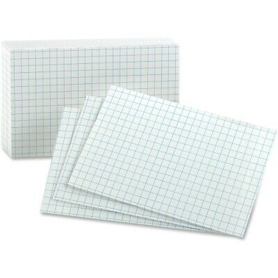 Oxford Grid Index Cards 3 X 5 White 100pack