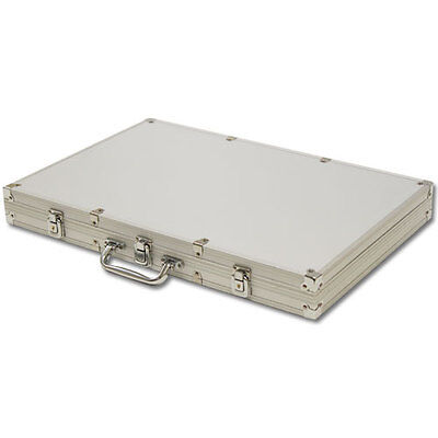 NEW 1000 Count Empty Aluminum Poker Chip Storage Case