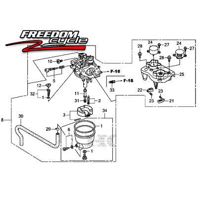 Honda Em5000is Em5000 Em 5000 Portable Power Generator Carburetor 16100-zk3-d43
