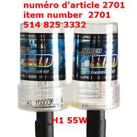 2X 55W H1 10000K Xenon HID Head Light Bulb Xenon Lamp Light Car