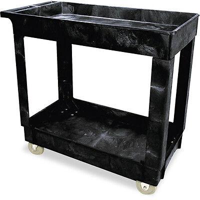 Rubbermaid Commercial Black 2 Shelf Serviceutility Cart