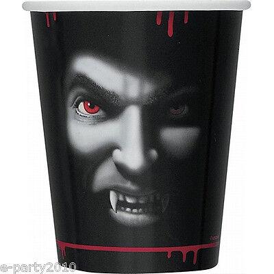HALLOWEEN Vampire 9oz PAPER CUPS (8) ~ Birthday Party Supplies Beverage Drinking
