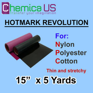 HOTMARK REVOLUTION FOR NYLON COTTON POLYSTER STRETCHY 15X5Y