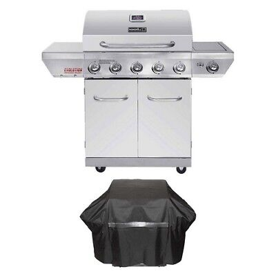 Propane Gas Grill 5 Burner Stainless Steel Bbq Barbecue Backyard Infrared Cover
