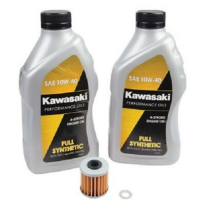 Tusk/Kawasaki Full Synthetic Oil Change Kit KAWASAKI KX250F 2004-2017 oil Filter