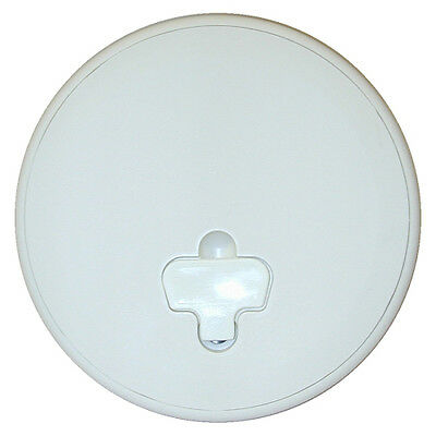 "T-H Marine White 8"" Quick Release Cam Lock Deck Plate"