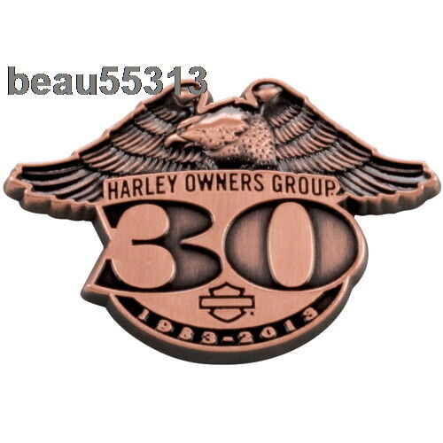 """""""NEW"""" HARLEY OWNERS GROUP 110th 30th 1983 - 2013 ANNIVERSARY HOG JACKET PIN"""