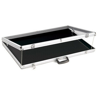Portable Lightweight Large Locking Aluminum Showcase - 34 Inch Wide
