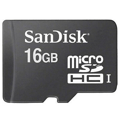 New SanDisk 16GB Class 4 MicroSD MicroSDHC SD SDHC TF Flash Memory Card 16 GB G