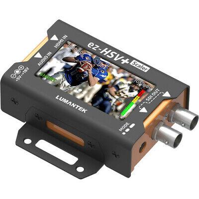 "Lumantek EZ-HSV+ HDMI to SDI Converter with 2.7"" Display and Scaler"