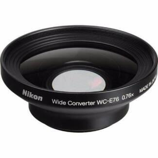 Nikon WC-E76 0.76x wide angle converter lens w/ UR-E21 adapter