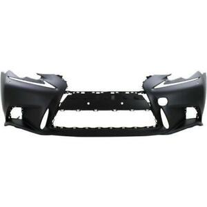 2014-2016 Lexus IS350 Bumper Front Primed Black With F Sport/Headlight Washer