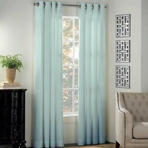 Newport 84-Inch Grommet Window Curtain Panel in Mint Blue