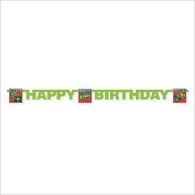 Tmnt Birthday Banner (TEENAGE MUTANT NINJA TURTLES BANNER ~ Birthday Party Supplies Decorations)