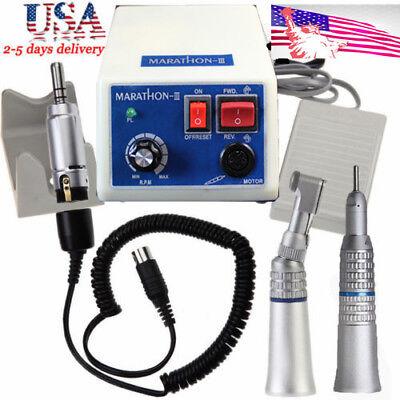 Dental Lab Marathon Micro Motor Electric Polisher N3contra Straight Handpiece